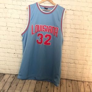 Blue and Red Louisiana #32 Jersey Size: 58